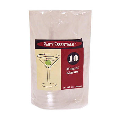 Clear Plastic Martini Cups - 8 oz. - 120 Cups