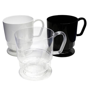 Plastic Coffee Mugs - 8 oz. - 120 ct. - Various Colors