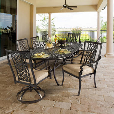 Ibiza Cushioned Oval Dining Set - 9 pc.