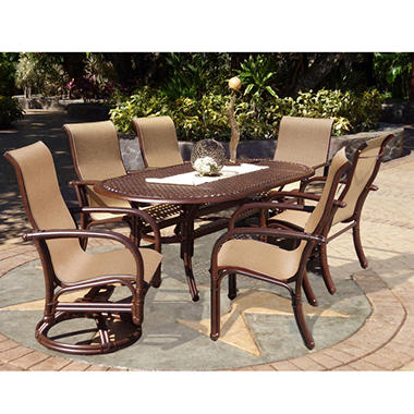 Meridian Sling Outdoor Dining Set 7 pc.