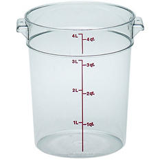 Cambro Round Container, Clear - 4 Quart