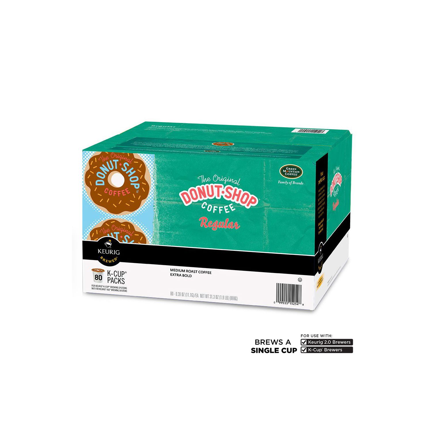 Green Mountain Coffee The Original Donut Shop Extra Bold Coffee K-Cup Packs - 80 ct. at Sears.com