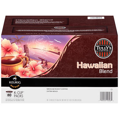 Tully's Hawaiian Blend K-Cup Packs (80 ct.)
