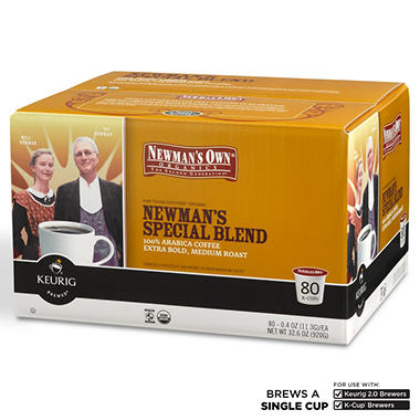 Newman's Own Organics Special Blend Extra Bold Coffee K-Cup Packs - 80 ct.