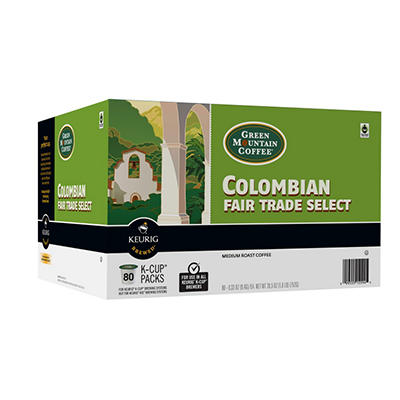 Green Mountain Coffee Colombian Fair Trade Select K-Cup Packs - 80 ct.