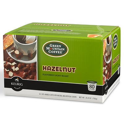 Green Mountain Coffee Hazelnut K-Cup (80 ct.)