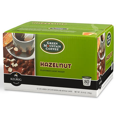 Green Mountain Coffee Hazelnut K-Cup Packs – 80 ct.