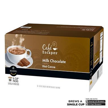 Café Escapes Milk Chocolate Hot Cocoa K-Cup Packs (54 ct.)