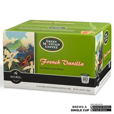 Green Mountain Coffee French Vanilla K-Cup Packs - 80 ct.