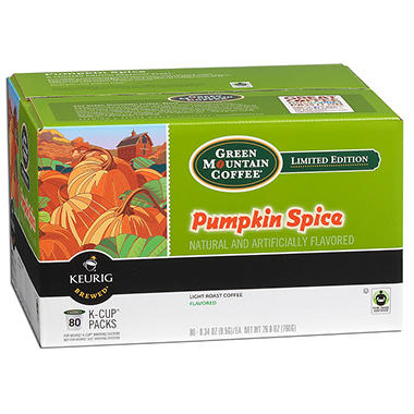 Green Mountain Coffee Pumpkin Spice K-Cup Packs - 80 ct.