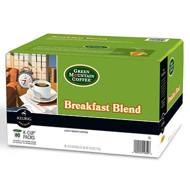 Green Mountain Coffee Breakfast Blend K-Cup Packs - 80 ct.