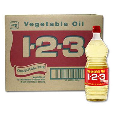 1-2-3 Vegetable Oil - 12/33.8oz