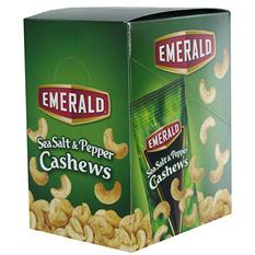 Emerald Sea Salt and Pepper Cashews - 1.5 oz. Bag - 12 ct.
