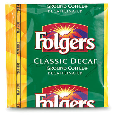 Folgers Classic Decaffeinated Portion Pack Coffee, 0.9 oz. - 40 ct.