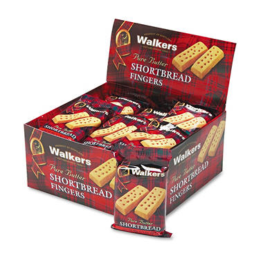 Walkers Shortbread Fingers Butter Cookies- 2 per pk. - 24 ct.