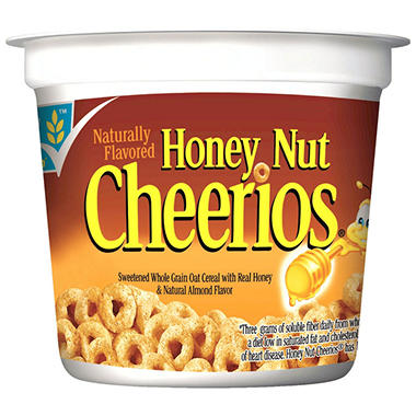 General Mills Honey Nut Cheerios Cereal in a Cup - 2 oz. Cup - 12 ct.