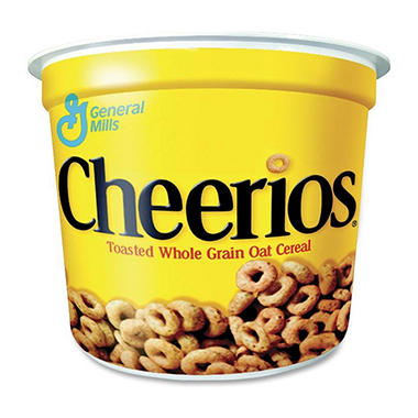 General Mills Cheerios Cereal in a Cup - 2 oz. bowl - 12 ct.