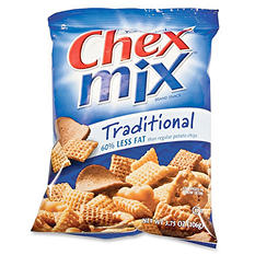 Traditional Chex Mix Peg Bag - 3.75 oz. Bag - 16 ct.