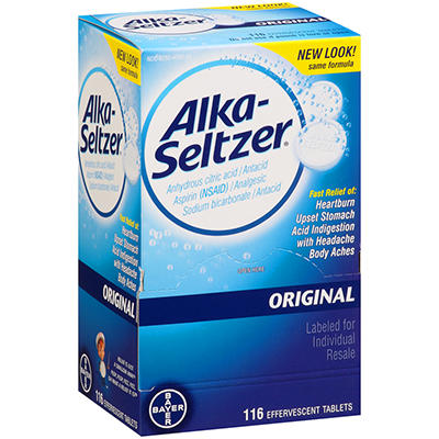 Alka-Seltzer Original Antacid and Analgesic - 116 ct.