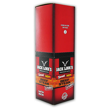 Jack Links Sweet n Hot Jumbo Beef Stick - 2 oz. Stick - 12 ct.