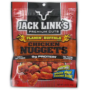 Jack Link's Buffalo Chicken Nugget Peg Bag - 3.25 oz. Bag - 8 ct.