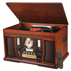 Aviator Recordable 6 in1 Wooden Music Center