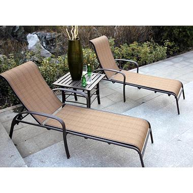 Lancaster 3 pc Chaise Lounge Set