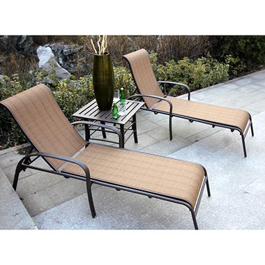 Lancaster 3 pc Chaise Lounge Set
