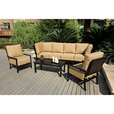 Arvin Deep Seating Set with Premium Sunbrella® Fabric - 7 pcs.
