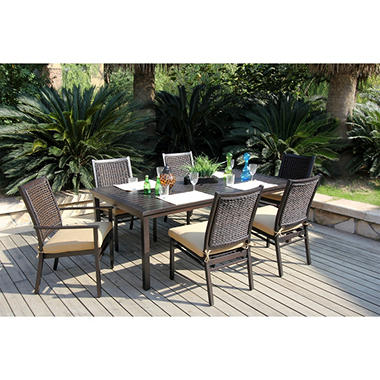 Arvin Patio Dining Set with Premium Sunbrella® Fabric - 7 pcs.