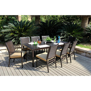 Arvin Patio Dining Set with Premium Sunbrella® Fabric - 9 pcs.