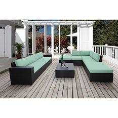 Bloomington 8-Piece Modular Sectional Seating Set with Premium Sunbrella Fabric