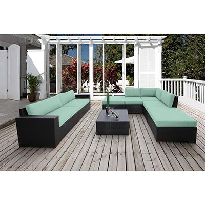 Bloomington 8 Pc. Conversation Modular Sectional Seating Set with Premium Sunbrella® Fabric