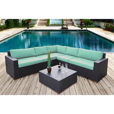 Bloomington 6 Pc. Conversation Modular Sectional Seating Set with Premium Sunbrella® Fabric