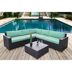 Bloomington 6 Pc. Conversation Modular Sectional Seating Set with Premium Sunbrella® Fabric