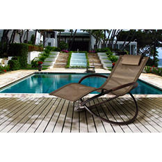 Bloomington Wave Rocking Chaise Lounge Set with Premium Sunbrella® Fabric