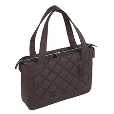 WIB - Women In Business Vanity Quilted Patent Tote - Espresso