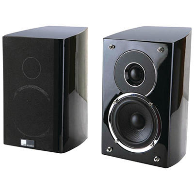 "Pure Acoustics 4"" Noble II 2-Way Gloss Black Speakers"