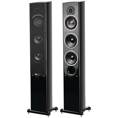 Pure Acoustic 5.25'' Noble II Gloss Black Slim Tower Speakers