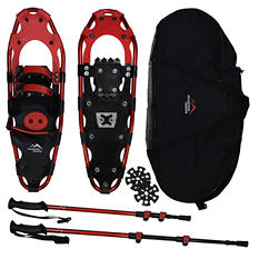 "Mountain Tracks Pro Series 24.5"" Snowshoe Set, Red"