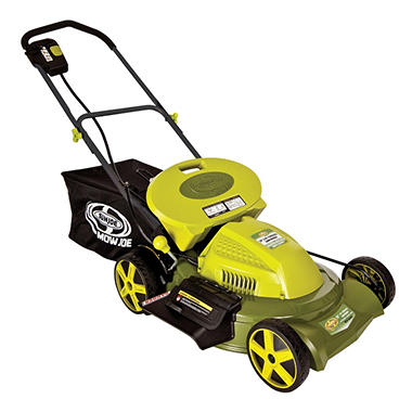 "Sun Joe Mow Joe 20"" 3-in-1 Cordless Lawn Mower with Side Discharge"