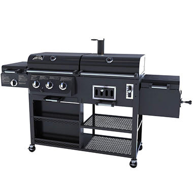 smoke hollow 4 in 1 combo gas charcoal grill sam 39 s club. Black Bedroom Furniture Sets. Home Design Ideas