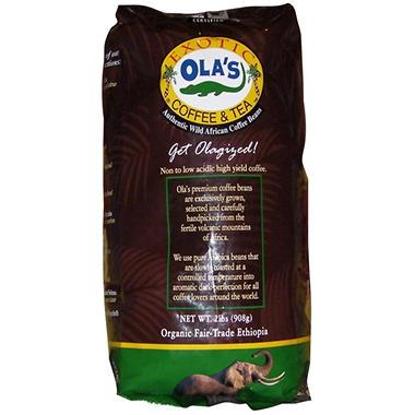Ola's Organic Ethiopian AA Whole Bean Coffee - 2 lbs.