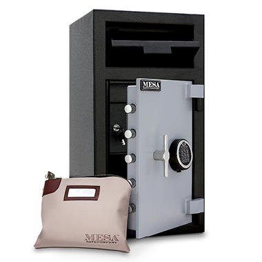 Mesa - Safe All Steel Depository Safe with Interior Locker - 1.3 Cubic Feet