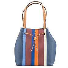 Women's Kerrington Stripe Drawstring Bucket Tote by Tory Burch