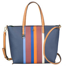 Women's Small Kerrington Stripe Square Tote by Tory Burch