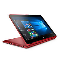 "HP Pavilion X360 2-in-1 Convertible Touchscreen Full HD IPS 15.6"" Notebook 15-bk027cl, Intel Core i5-6200U DC Processor, 8GB Memory, 1TB Hard Drive, Windows 10, Cardinal Red"