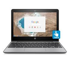 "HP Touchscreen HD IPS 11.6"" Chrome Notebook, Intel Celeron N3060 Processor, 4GB Memory, 16GB Hard Drive, Edge to Edge Gorilla Glass, HD Webcam, Chrome OS"