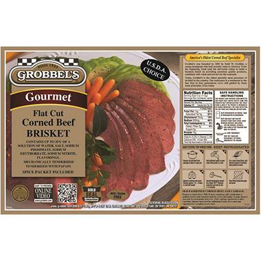 Grobbel's Gourmet Corned Beef Brisket (priced per pound) 3.5-5.5 lbs.