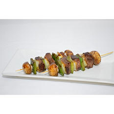 Top Sirloin Beef Kabobs with Black Pepper Sauce (priced per pound)